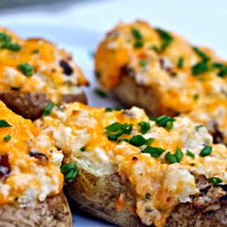 Grilled, Loaded Twice-Baked Potatoes.