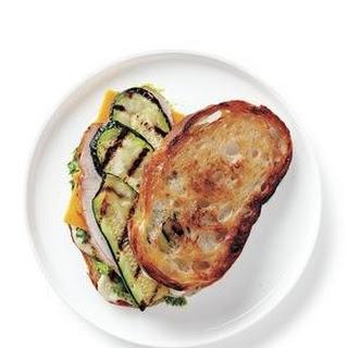 Turkey, Cheddar, and Grilled Zucchini Sandwich Recipe