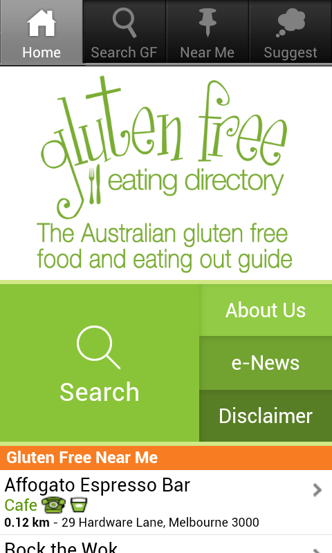 Gluten Free Eating Directory- screenshot