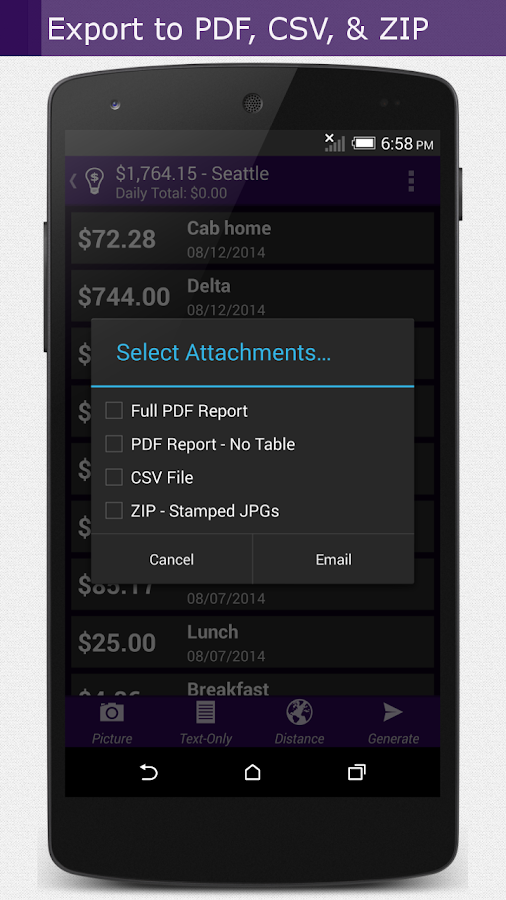Smart Receipts Plus- screenshot