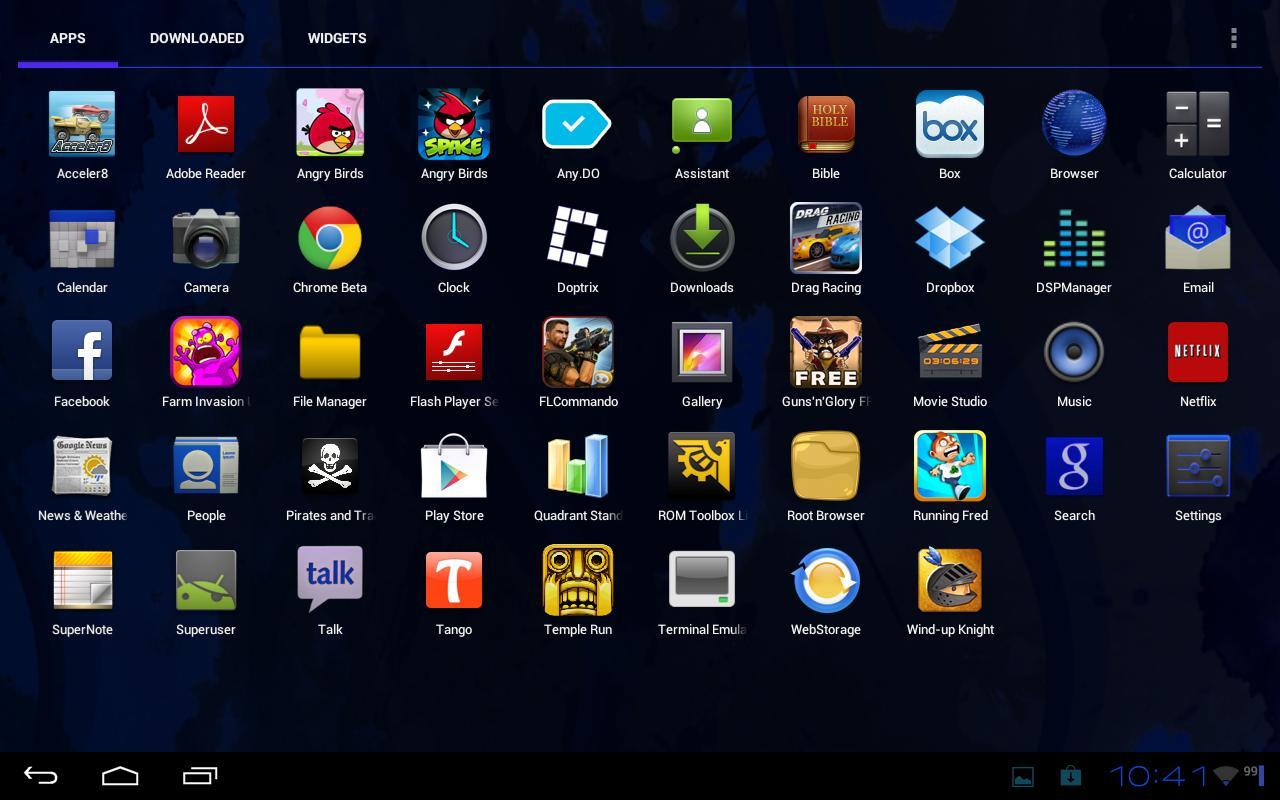 Gummy/CM9 theme Sapphire- screenshot