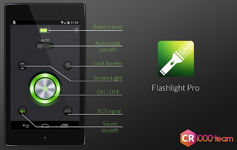 Flashlight Pro - CR1000Team- screenshot thumbnail