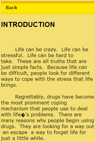 Drug Addiction- screenshot
