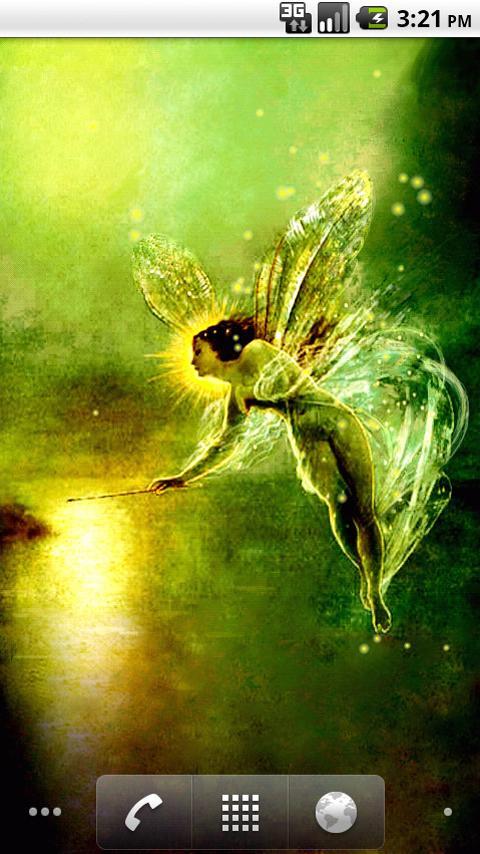 Golden Fairy LWP - screenshot
