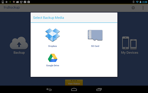 truBackup - Mobile Backup Screenshot