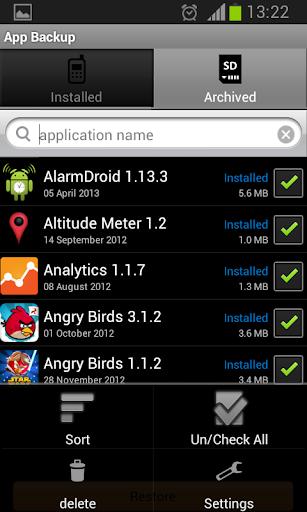 App Backup  screenshots 5