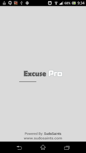 Excuse Pro - List of Excuses