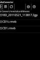 Screenshot of ffmpeg codec arm v5te