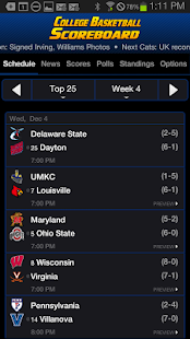 College Basketball Scoreboard - screenshot thumbnail