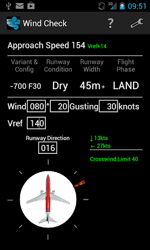 Wind Check Boeing 737