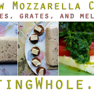Sliceable, Grateable, Meltable Mozzarella Cashew Cheese!