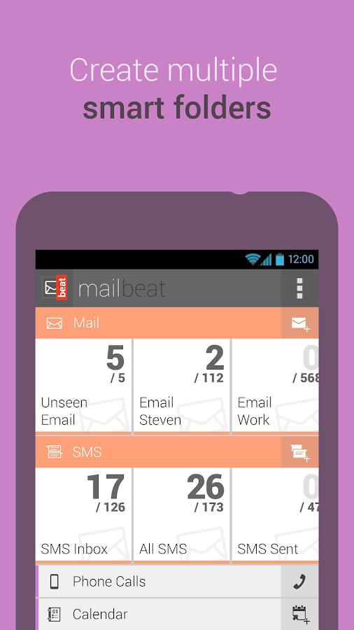 mailbeat email app/mail client- screenshot