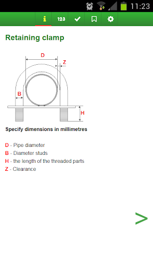 Calculation of the clamp