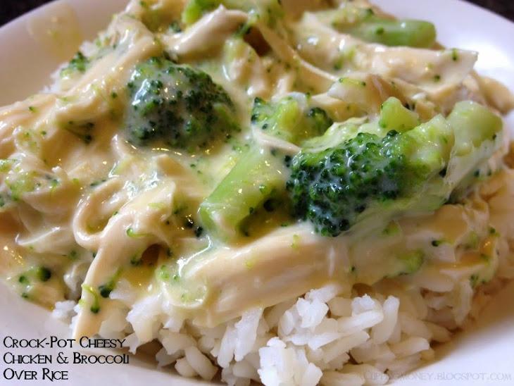 Creamy Crock-Pot Chicken and Broccoli Over Rice Recipe
