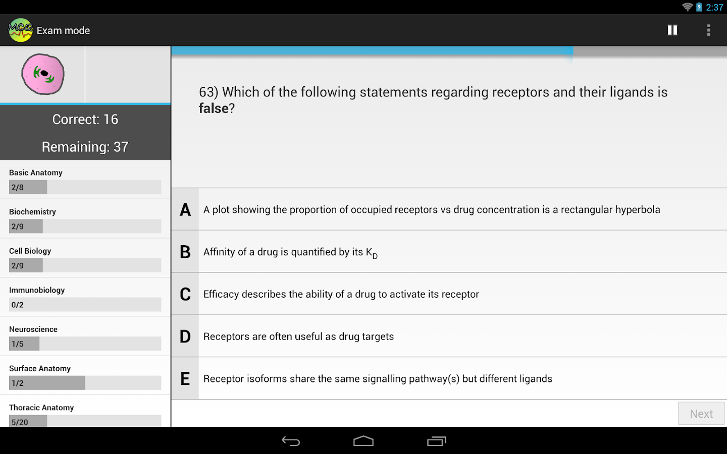 Medicine MCQs for Med Students- screenshot