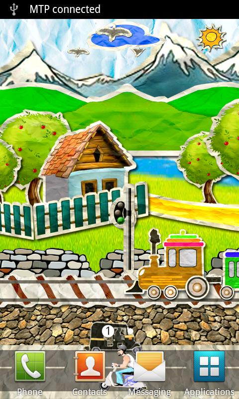 Paper Train Live Wallpaper - screenshot
