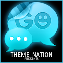 GO SMS Theme Blue Neon icon