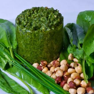 Spicy Sorrel Chive Pesto