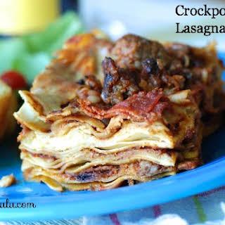 Crockpot Pizza Lasagna.