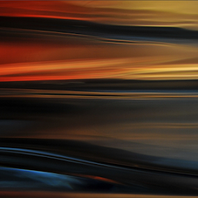 Abstract seascape by Kittie Groenewald - Abstract Patterns ( macro,  )