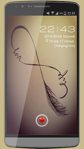 Infinity Love GO LOCKER THEME Android App Screenshot