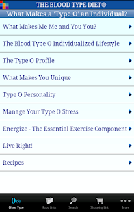 The Blood Type Diet®- screenshot thumbnail