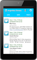 Screenshot of Argentina Sismos
