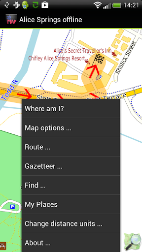 Alice Springs offline map