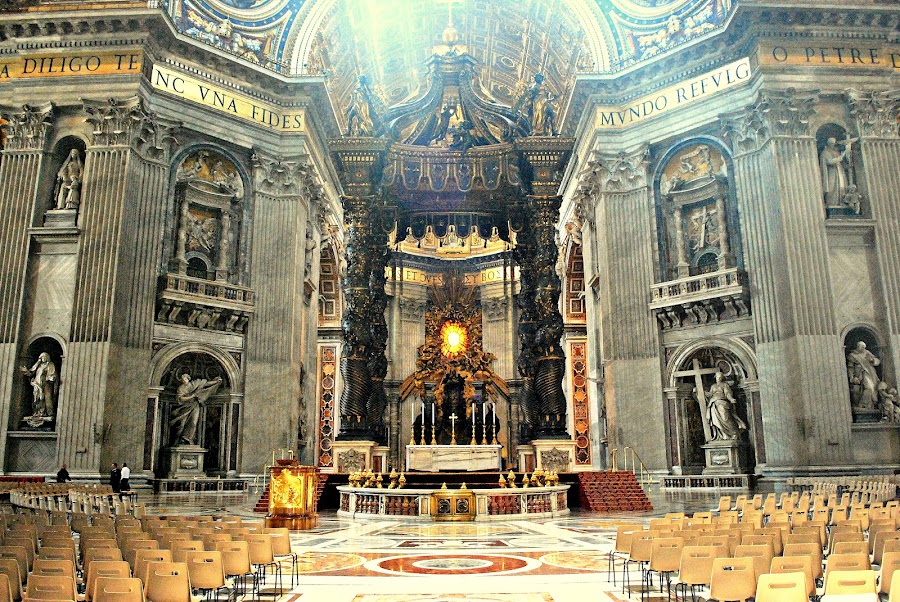 The Altar : St Peter's Vatican by Sajal Gupta - Buildings & Architecture Other Interior