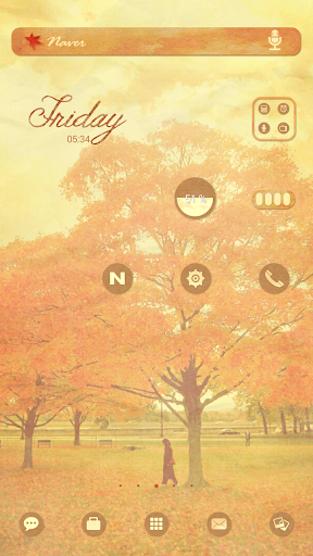 Autumn dodol luancher theme