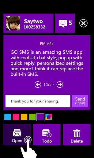 玩通訊App|GO SMS PRO WP8 Popup ThemeEX免費|APP試玩