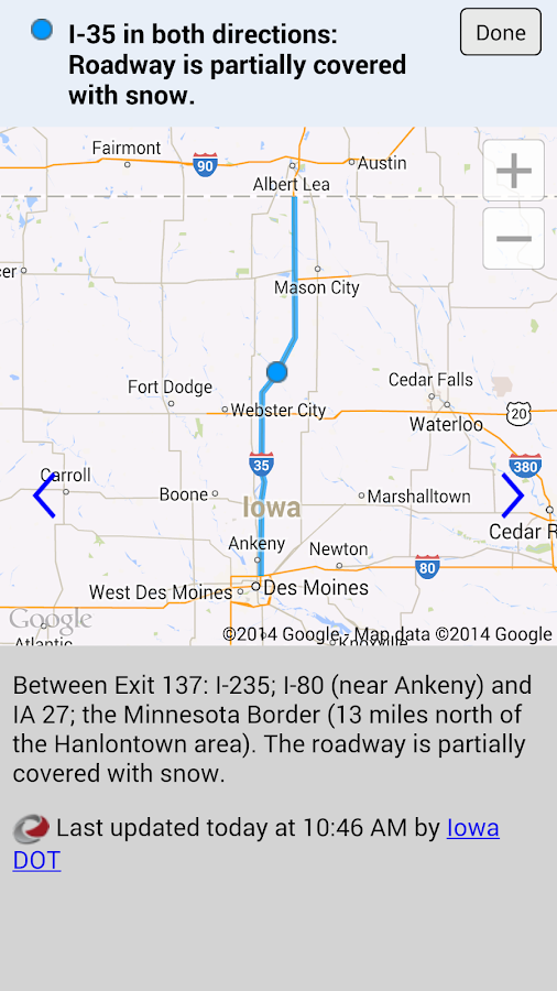 Iowa 511 - screenshot