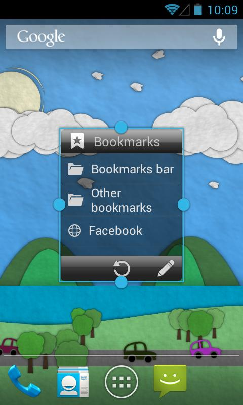 Bookmarks Widget- screenshot