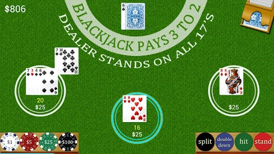 Multi Hand Blackjack- screenshot thumbnail