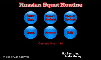 Screenshot of Russian Squat Routine