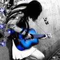 Girl Plays Blue Guitar logo