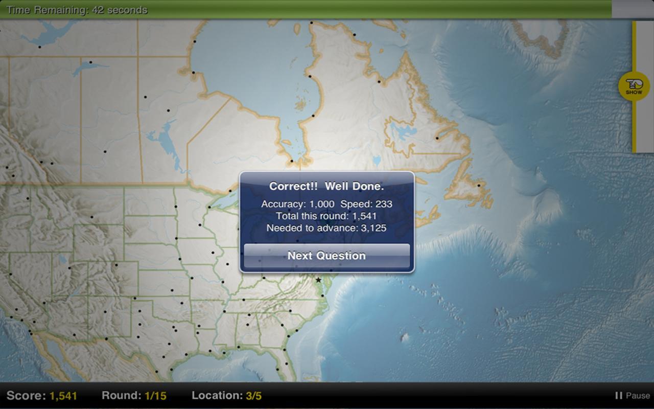 GeoBee Challenge- screenshot