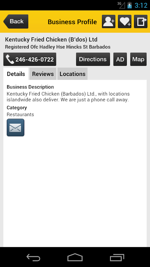 Barbados Yellow Pages - screenshot