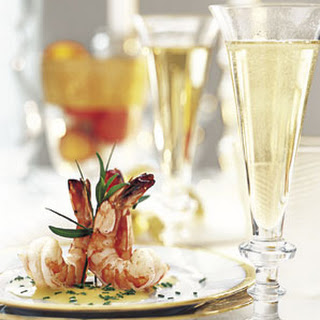Marinated Shrimp with Champagne Beurre Blanc
