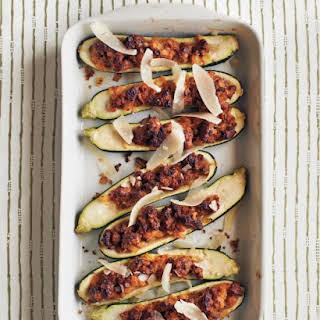 Sausage-Stuffed Zucchini.
