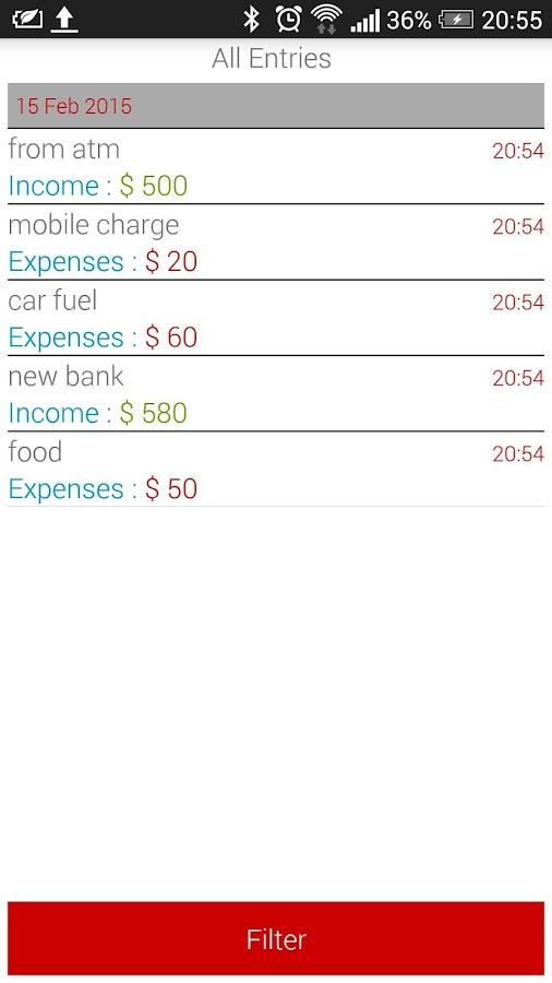 Pocket Money App- screenshot