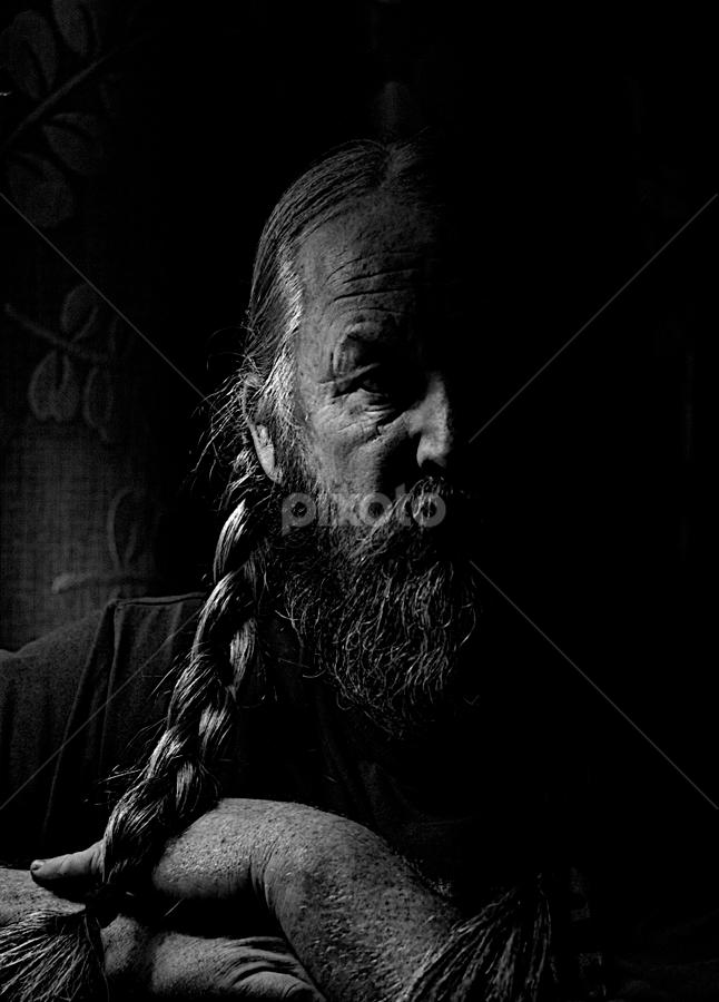 The Modern Viking by Glenn Roesener - People Portraits of Men ( black and white, portrait,  )