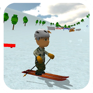 Ski Sim: Cartoon for PC and MAC