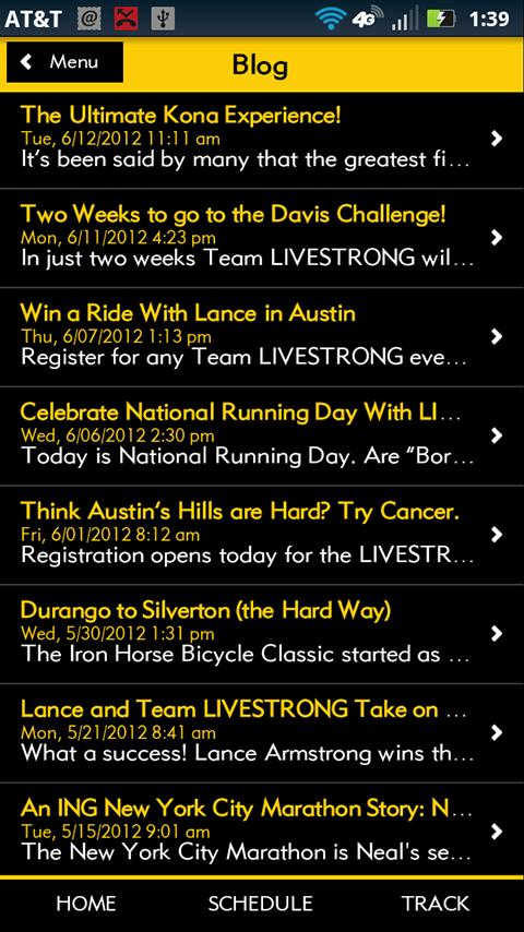 Team LIVESTRONG Challenge - screenshot
