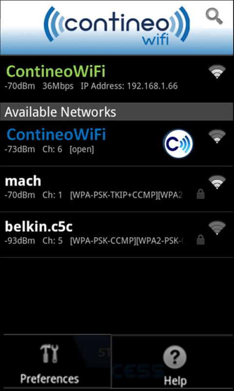 ContineoWiFi - screenshot