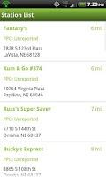 Screenshot of Flex-Fuel Station Locator