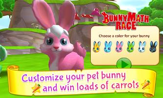 Screenshot of Bunny Math Race Free