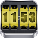 3D Rolling Clock YELLOW icon