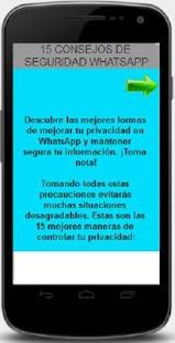 whatsapp consejos seguridad - screenshot thumbnail