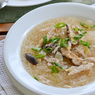 Chicken Sotanghon Soup (Filipino Style Chicken Bean Thread Noodle Soup).